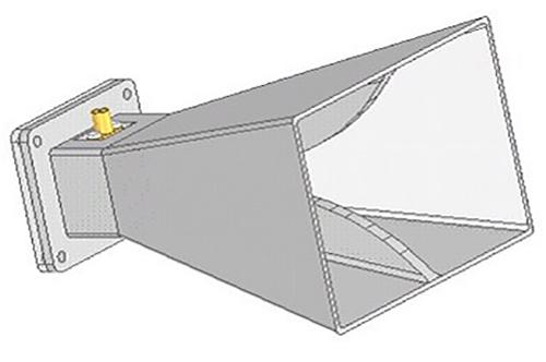 Design Antenne 2-18 GHz 12dBi