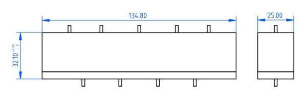 Filtre passe-bande 3.3 - 3.7 GHz Mesure